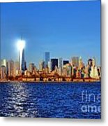 Lighthouse Manhattan Metal Print by Olivier Le Queinec