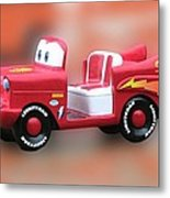 Lightning Mcqueen Metal Print by Thomas Woolworth