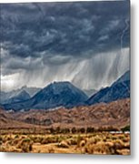 Lightning Strike Metal Print by Cat Connor