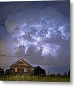 Lightning Thunderstorm Busting Out Metal Print by James BO  Insogna