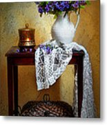Lilacs And Lace Metal Print by Diana Angstadt