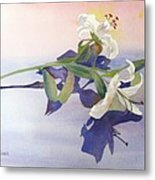 Lilies At Rest Metal Print by Patricia Novack
