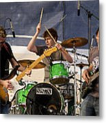 Lincoln Brewster And Band Metal Print by Bill Gallagher