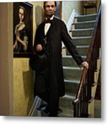 Lincoln Descending Stairs 2 Metal Print by Ray Downing