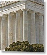 Lincoln Memorial Pillars Metal Print by Susan Candelario