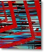 Lines And Design Metal Print by Mario Perez