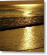 Liquid Gold Metal Print by Sandy Keeton