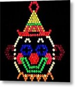 Lite Brite - The Classic Clown Metal Print by Benjamin Yeager