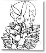 Literary Playboy Metal Print by John Ashton Golden