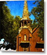 Little Church Of The West Metal Print by Julie Palencia