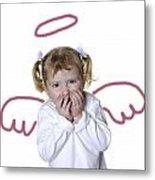 Little Girl Angel Metal Print by Lane Erickson