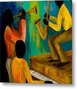 Little Jazz Trio I Metal Print by Larry Martin
