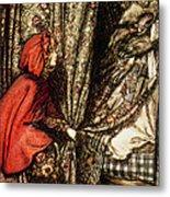 Little Red Riding Hood Metal Print by Arthur Rackham