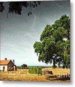 Little Rural House Metal Print by Carlos Caetano