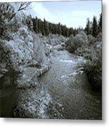 Little Spokane River Beauty Metal Print by Daniel Hagerman