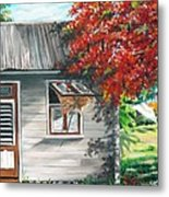 Little West Indian House 1 Metal Print by Karin  Dawn Kelshall- Best