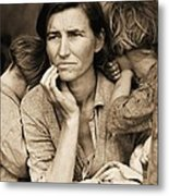 Living With Poverty Metal Print by Pg Reproductions