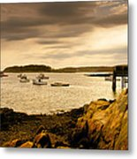 Lobster Boats Cape Porpoise Maine Metal Print by Bob Orsillo