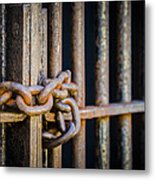 Locked Out Metal Print by Carolyn Marshall