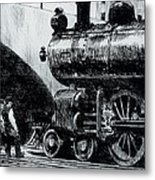 Locomotive Metal Print by Edward Hopper