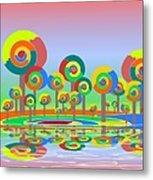 Lollypop Island Metal Print by Anastasiya Malakhova