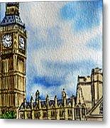 London England Big Ben Metal Print by Irina Sztukowski