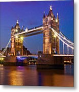 London - Tower Bridge During Blue Hour Metal Print by Melanie Viola