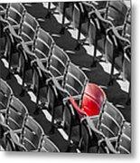 Lone Red Number 21 Fenway Park Bw Metal Print by Susan Candelario