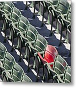 Lone Red Number 21 Fenway Park Metal Print by Susan Candelario
