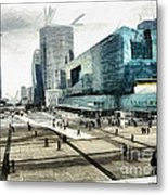 Loneliness And Business In Paris Metal Print by Daliana Pacuraru