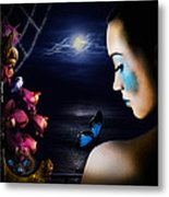 Lonely Blue Princess And The Villains Metal Print by Alessandro Della Pietra