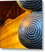 Long Buddha Statue Metal Print by Chaichana Pratomwong