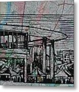 Long Center On Map Metal Print by William Cauthern
