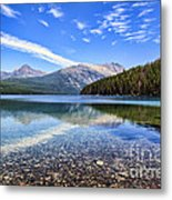 Long Knife Peak At Kintla Lake Metal Print by Scotts Scapes