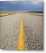 Long Lonely Road Metal Print by Adam Romanowicz