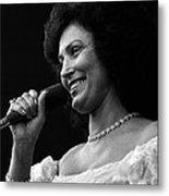 Loretta Lynn Singing  Metal Print by Retro Images Archive