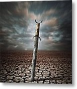 Lost Sword Metal Print by Carlos Caetano