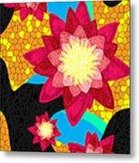 Lotus Flower Bombs In Magenta Metal Print by Kenal Louis