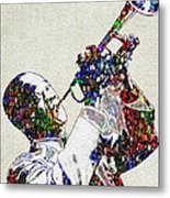 Louie Armstrong 2 Metal Print by Jack Zulli