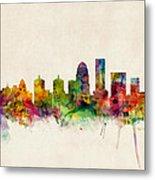 Louisville Kentucky City Skyline Metal Print by Michael Tompsett
