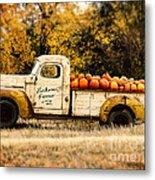 Loukonen Farms Pumpkin Truck Metal Print by Catherine Fenner