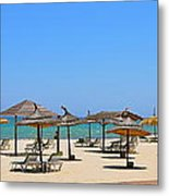 Lounging At The Beach Metal Print by Corinne Rhode