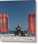 Lounging With Inukshuk Metal Print by Gord Horne