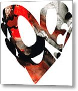 Love 18- Heart Hearts Romantic Art Metal Print by Sharon Cummings
