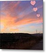 Love And Sunset Metal Print by Augusta Stylianou