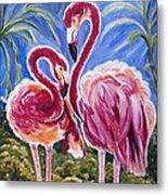 Love Flamingos  Metal Print by Yelena Rubin