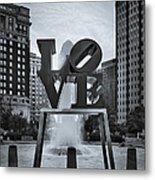 Love Park Bw Metal Print by Susan Candelario