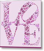 Love Quatro - Heart - S44b Metal Print by Variance Collections