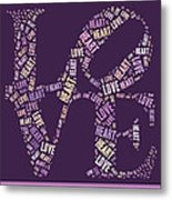 Love Quatro - Heart - S77a Metal Print by Variance Collections