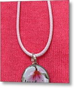 Loved With An Everlasting Love Pendant Metal Print by Carla Parris
